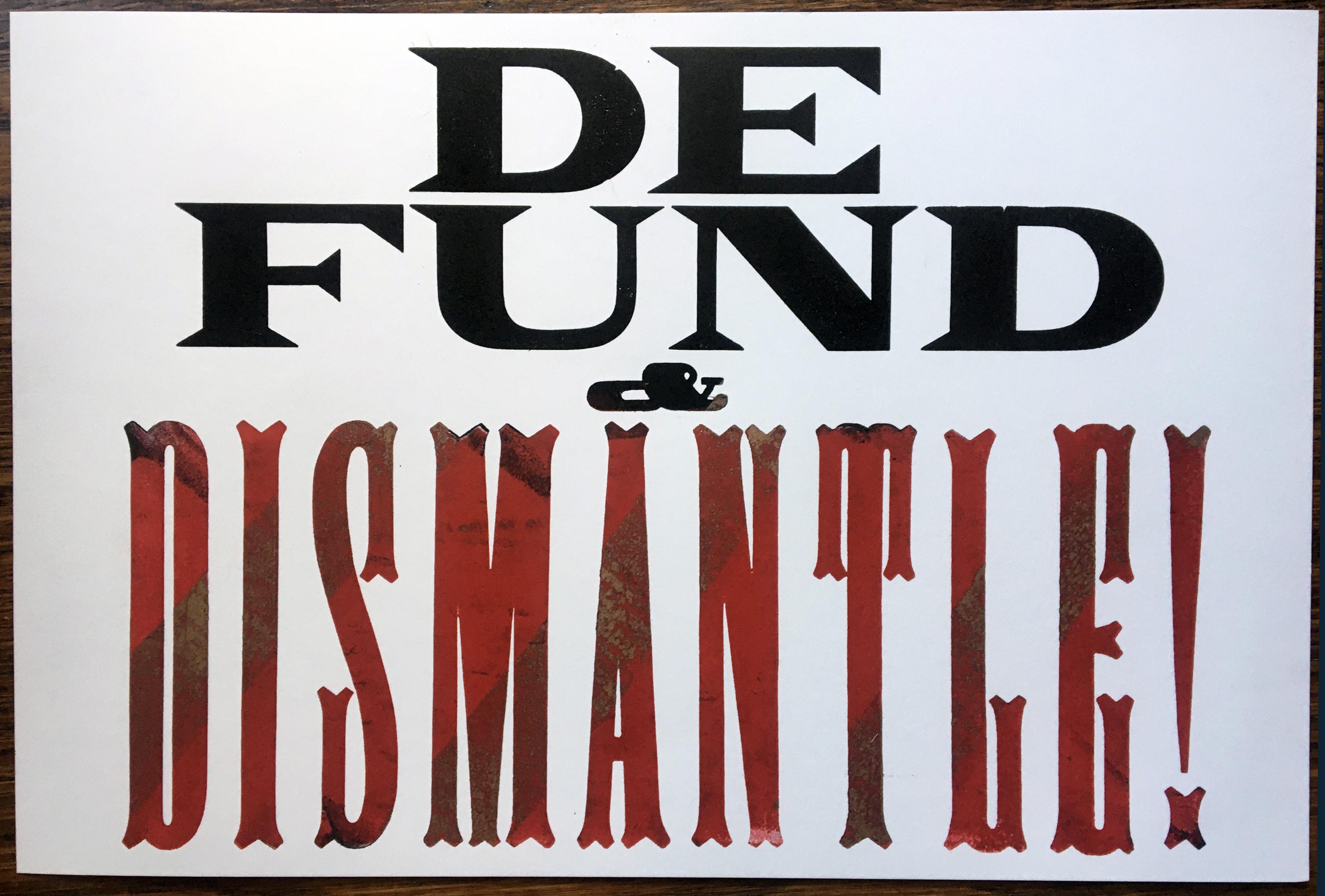 defund:dismantle 2020